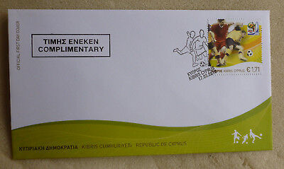 2010 Cyprus Greek Football World Cup Fdc First Day Cover