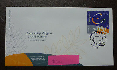 2016 Cyprus Greek European Union Fdc First Day Cover