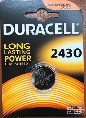 1x Duracell CR2430 3V Lithium Coin Cell Battery DL2430 K2430L 2430 LONG EXPIRY