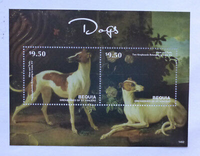 2013 St VINCENT & GRENADINES DOGS GREYHOUNDS BEQUIA STAMP MINI SHEET