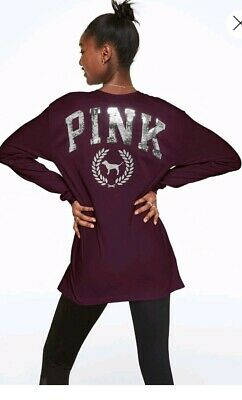 Victoria secret pink  large Bling  Campus long Sleeve T Shirt Womens