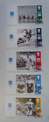 Isle Of Man 2004 Set Of 5 Olympic Pm Douglas Stamps