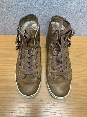 2fd76fb682e UGG BLANEY HIGH top Women's Tasseled Sneakers - Dark Chestnut Brown - SIZE  8.5