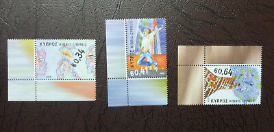 2016 Cyprus Principles And Values Set Of 3 Mint Stamps Mnh