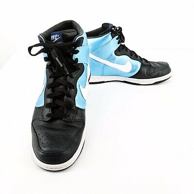online store 53e75 90c6c Nike Zoom Mens Dunk High Premium Ice 317892-411 Blue White-Black Size 10