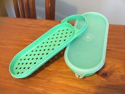 Vintage Green Tupperwate Grater And Container Grate N Stor
