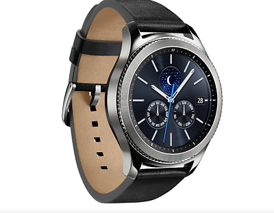 Samsung Galaxy Gear S3 Classic Smart Watch Stainless Steel Case With Black Sport