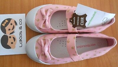 69dbee7b30b49 Chaussures Ballerines Toile Imprime Palmiers Fille Verbaudet Taille 32 🌟  Neuf