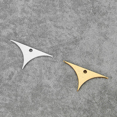 5Pcs Silver/Gold Tone Stereotyped Aluminum Alloy Triangles Charms Pendants Beads