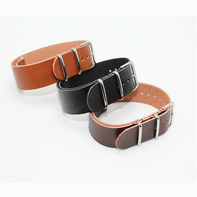 Fashion Men Durable Genuine Leather Wrist Watch Bands Strap 18mm/20mm/22mm/24mm