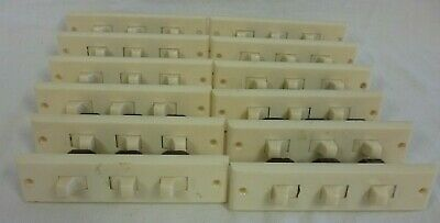12 x Vintage Ring-Grip 3 gang Light Switches - 250V AC, 10A