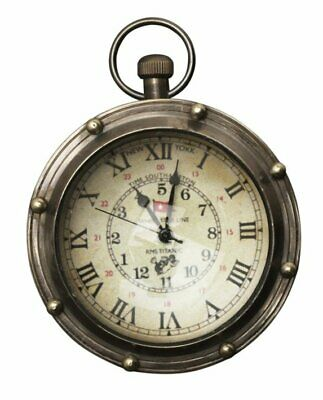 G517: Glass Ball Clock Titanic, Portholes Watch with Two Time Information