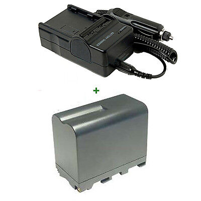 Battery + Charger for Sony NP-F970 NP-F770 F550 HVR-Z7 NP-F970 Z1U HVR HDR-FX1