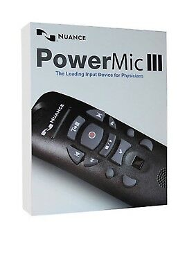 Nuance PowerMic III Microphone. 9  Foot Cord (Brand New)