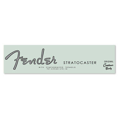 Fender® 1962 Stratocaster® Strat® OCB ST Waterslide Headstock Decal BLACK SILVER