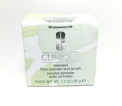Clinique Blended Face Powder & Brush 05 Transparency 5 FULL SIZE NIB 1.2oz 35g