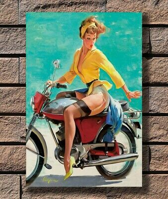 Poker Pin Up Vintage Gil Elvgren Pinup Girl Poster Giclee/' Print 24x36 inch