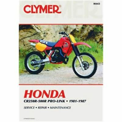 Clymer Dirt Bike Manual - Honda CR250R-500R Pro-Link - HON CR250R 1981 - 1986;