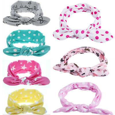 Baby Girls Bunny Cute Kids Turban Knot Rabbit Headband Bow Hair bands Head wrap
