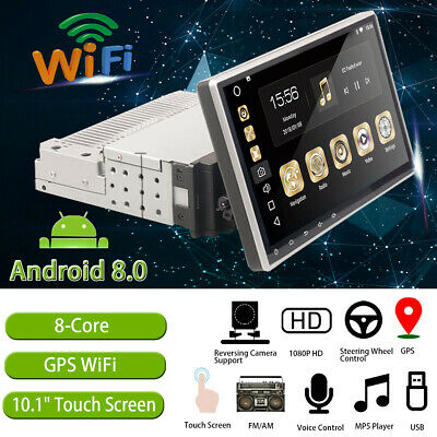 Android 8.0 10.1'' Touchscreen Car Radio Stereo Player 16GB 1Din 8 Core GPS Wifi
