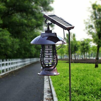 Solar Mosquito LED Light Fly Bug Insect Zapper Killer Trap Lamp Outdoor Garden