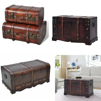 Surprising Large Wooden Trunk Treasure Chest Vintage Storage Box Coffee Onthecornerstone Fun Painted Chair Ideas Images Onthecornerstoneorg