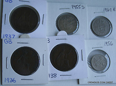 6 X Mixed World Coin's General Mix Modern World In 2X2 Holders #mtg80