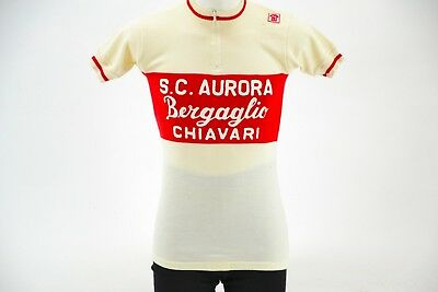 593fd2aac Classic Italian Short Sleeve Cycling Jersey Size 2 100% Wool Made in Italy