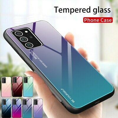 For Samsung Galaxy S20 Plus Note 10 S10 S10E Gradient Tempered GLASS Case Cover