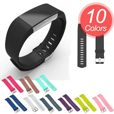 10 Pack für Fitbit Charge 2 Armband Sport Ersetzerband TPE Weiches Silikon Small