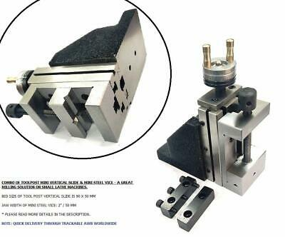 "ToolPost Mini Vertical Slide with 2""/ 50 mm Steel Vice-Instant Milling For Small"