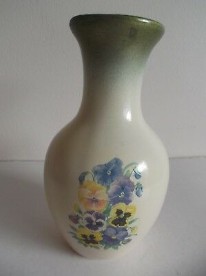 Vintage Hayden Collections Vase - Pansies - Made In Australia