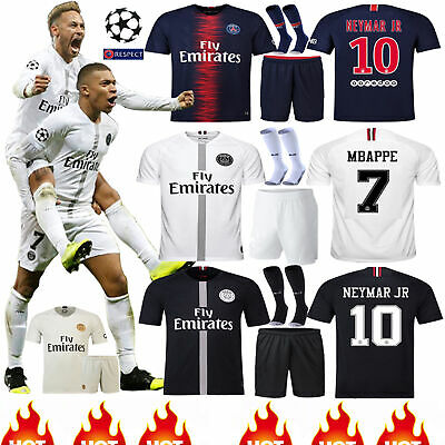 18/19 Football Club Kits Short Sleeve Adult Kids Jerseys Shirt +Shorts+Sock Suit