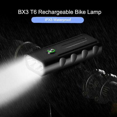 2019 Super Bright 1500LM T6 LED Mountain Bike Lights USB Rechargeable Front Lamp