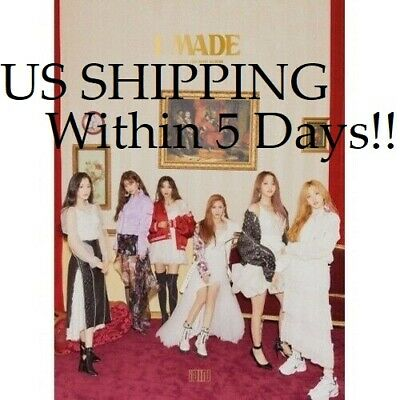 US SHIPPING (G)I-Dle [I Made] 2nd Mini Album CD+Poster+Booklet+PhotoCard+Sticker