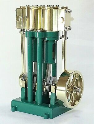 Live Steam - Twin Cylinder Marine Model Steam Engine Fully Machined Metal Kit