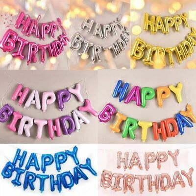 Large Happy Birthday Self Inflating Balloon Banner Bunting Party Decoration Ah