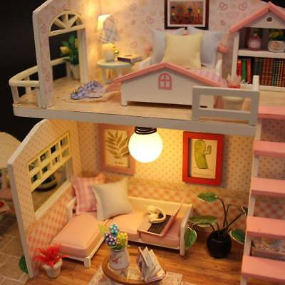 DIY Cottage DIY Handcrafted Dollhouse Wooden Miniature Furniture Kit Kid Gift