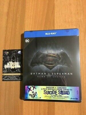 Batman v Superman dawn of justice Steelbook Blu Ray Nuovo Sigillato Italiano