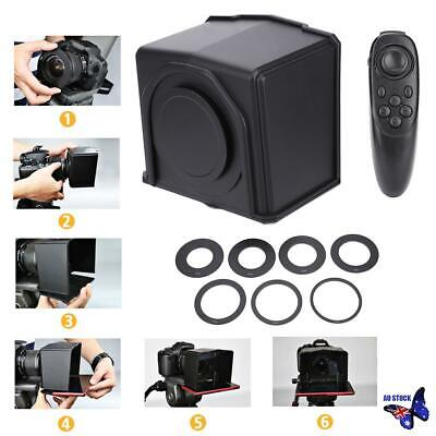 Smart Phone Portable Teleprompter w/Lens Adapter Rings Kit for Interview TV Show