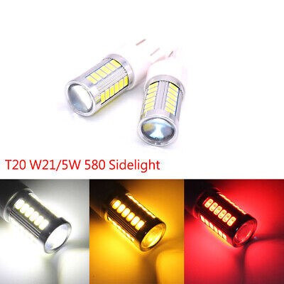 T20 580 W21/5W Sidelight 7443 5630 33 LED Dual Filament DRL bulb Hid Effect 12V
