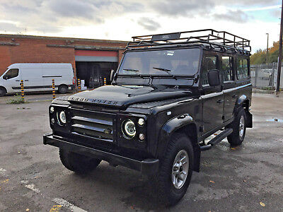 1992 Land Rover Defender County Station Wagon 1992 LANDROVER DEFENDER 110 200TDi CHASSIS STRIP REBUILD SANTORINI BLACK & VIDEO