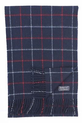 Genuine Burberry 100% Lambswool Blue Nova Check Vintage Scarf
