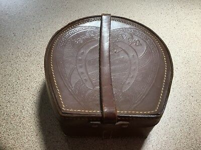 Vintage Antique Leather Collar Box