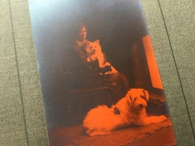 Early Colour Photograph - Study Of Lady With Dogs - Signed Churchill