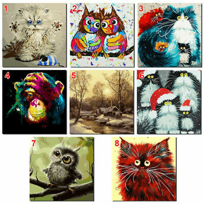 Unframed Digital DIY Paint By Number Kit Flowers Oil Painting Linen Wall decor