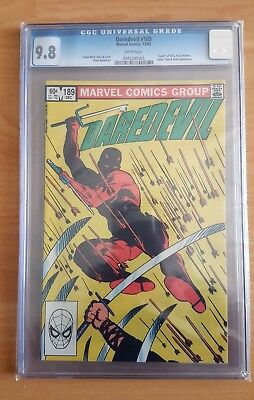 Daredevil #189 (1982) Graded Cgc 9.8 - Death Of Stick - Frank Miller *1St Series