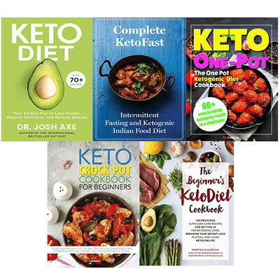 Keto Diet Your,Complete KetoFast,The Keto Crock Pot Cookbook 5 Books Collection