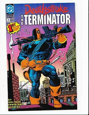Deathstroke the Terminator 1 1991 Mike Zeck Cover DC Comics 1st Print