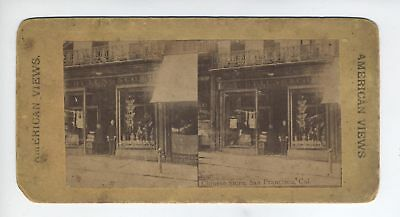 Chy Lung Co. Chinatown San Franscisco Chinese Storefront,stereoview, C1880